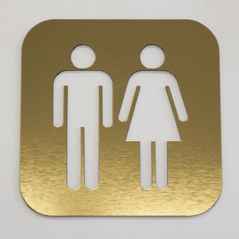 """WC skylt """"Man/kvinna"""", utskuren"""