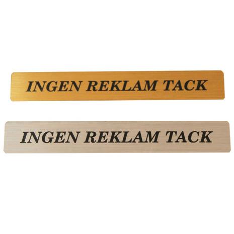 INGEN REKLAM TACK magnet