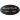 Oval gravskylt i svart eloxerad aluminium