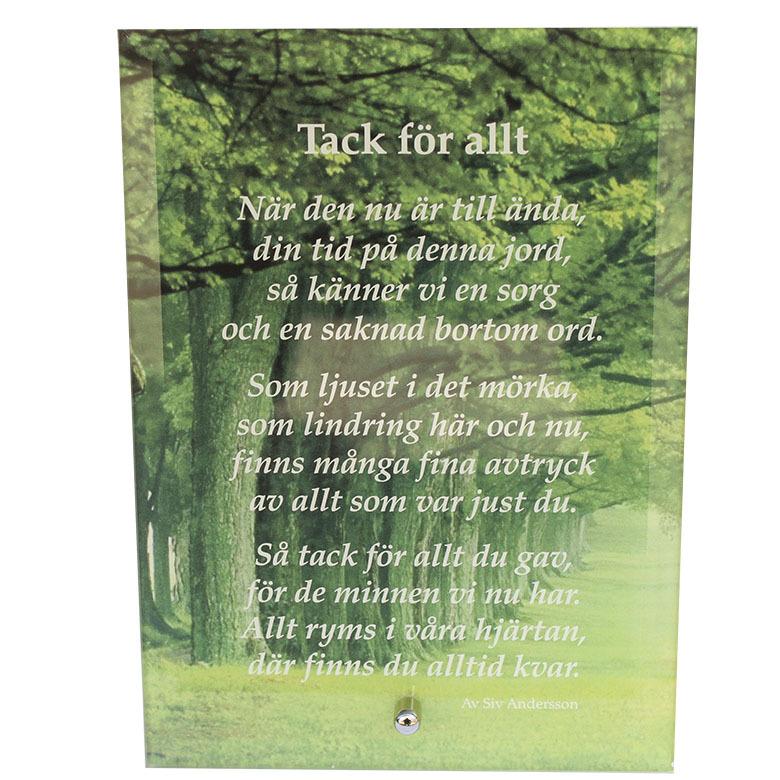 tack för allt dikt